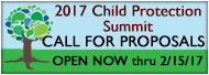 2017 Child Protection Summit Call for Proposals banner